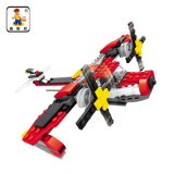 Los niños de plástico 3 en 1 helicóptero bloquea el juguete 427PCS