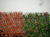 Exportación precio de fábrica de madera para decoración de jardín cercado