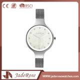 Reloj redondo grande del cuarzo del acero inoxidable de la dimensión de una variable de la dial