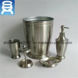 Nikel покрыло комплекты держателя щетки туалета вспомогательного оборудования ванной комнаты, комплект ванной комнаты металла