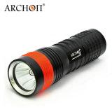 La lampe-torche sous-marine de plongeon la meilleur marché IP68 400 des lumens imperméables à l'eau de la lumière 100m de plongée profonde de G3 d'archonte DEL
