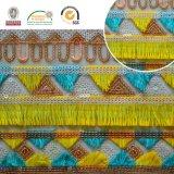 Nationales Stickerei-Polyester-Spitze-Gewebe 130 der Zoll-Tassels+Sequin