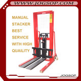 apilador manual de la paleta de la carretilla elevadora manual grande del carro 1-2tons