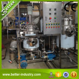 A planta da extração da erva inclui o concentrador do extrator
