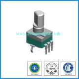 verticale potenziometro rotativo B100k di 9mm dell'asta cilindrica della lega per caratteri