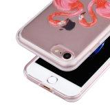 Da parte traseira à moda do espaço livre do caso do teste padrão de relevo do silicone de C&T tampa protetora TPU para o iPhone 7 de Apple