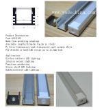 El perfil de aluminio del aluminio 6063-T5 12.2m m LED ahuecó perfil montado superficie de la tira del LED