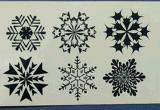 Etiquetas engomadas temporales impermeables del tatuaje de la carrocería popular del copo de nieve