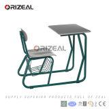Escritorio combinado y silla de la escuela del MDF del plástico de madera de metal de los muebles de escuela