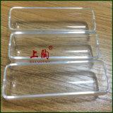 Crisol de cerámica claro del vidrio de cuarzo