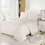 Gut-Baumwollhotel-stellte weiße überprüfte Tröster-gesetzte Satin-Check-Bettwäsche 100% ein (WS-2016030)