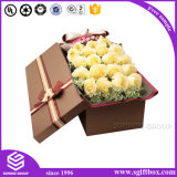 Papel em couro Kraft Packaging Round Rectangle Square Box