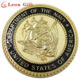 Monete commemorative del metallo su ordinazione dell'oro 3D di alta qualità per i regali