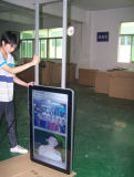 el panel doble Digital Dislay del LCD de las pantallas 55inch que hace publicidad del jugador, señalización de Digitaces
