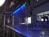 수영장 훈장 스테인리스 LED 연한 색 폭포