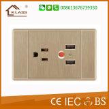 3pin elétricos com o soquete duplo 2.1A do USB dirigem o uso