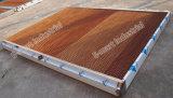 Garniture de refroidissement de garniture humide humide de rideau en application de serre chaude