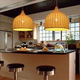 Decken-Lampen-hängendes helles Absinken-Licht mit Rattan-Lampenschirm