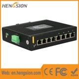 Interruptor de rede Ethernet Industrial de 8 Gigabit