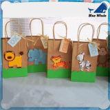Sac de papier d'impression de cadeau de papier fait sur commande de sac à provisions