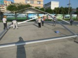 10X10m weiße Hochzeits-grosses Pagode-Zelt mit Vorhängen u. Futtern für Hochzeitsfest-Ereignisse