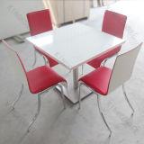 Modern Marble Top Superfície Sólida Mesa de Jantar