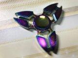 Garra del trébol del hilandero de la persona agitada de la mano de los juguetes del dedo de Torqbar colorida