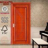 Puerta de madera del dormitorio de madera de caoba de la chapa de la fábrica de China (GSP8-002)