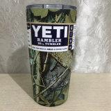 Cuvettes de Rambler de culbuteur de Yeti de Camo acier inoxydable de 30 onces café de tasse de course de refroidisseur de cuvette de Yeti de cuvettes et de tasses de thé de culbuteur de 20 onces