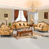 Деревянная софа ткани для живущий мебели комнаты (D929)