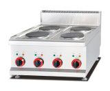 熱い販売のテーブルトップのガスのグリドル(1/3発の溝を作られる及び2/3の平たい箱) Gr722はレストランのために供給する