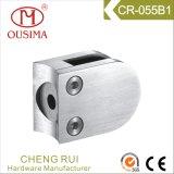 Zipolo di vetro del morsetto di figura rotonda dell'acciaio inossidabile per il sistema del corrimano (CR-055B)