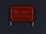 Condensador metalizado Mpp de la película del polipropileno de Cbb21 125j 400V