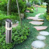 Lumière actionnée solaire extérieure de pelouse du jardin DEL d'acier inoxydable