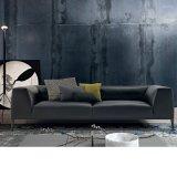 Sofà moderno europeo del cuoio del nero della mobilia del salone (L629-17-1)