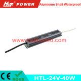 bloc d'alimentation imperméable à l'eau de l'interpréteur de commandes interactif en aluminium continuel DEL de la tension 24V-40W