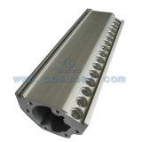 Perfil fabricado OEM del aluminio del LED/de aluminio con trabajar a máquina del CNC (ISO9001: 2008)