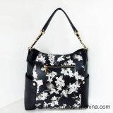 Мешок выдвиженческого печатание цветка женщин сумок PU повелительниц кожаный (LY060279)