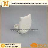 Diseño blanco del buho del esmalte para la palmatoria de Tealight