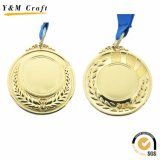 Oro in bianco/sport in lega di zinco bronzato argento/medaglia funzionante con il nastro