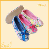 Ladies Home Ballet Dance Shoes Slipper com grande amor