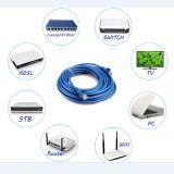Câble pur de bonne qualité 1-20m de connexion de l'en cuivre UTP du cordon de connexion de RJ45 du chat 5e 24AWG 4pairs
