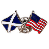 Speld van de Vlag van het Metaal van de douane de Nationale met de Koppeling van de Vlinder