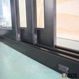 3 Spur-Aluminiumrahmen-Schiebetür, Fenster, Aluminiumfenster, Aluminiumfenster, Glastür K01097