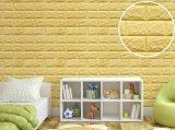 침실 3D 벽면 자동 접착 벽지가 안전 연약한 표면에 의하여 농담을 한다