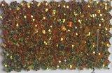 Couro sintético do plutônio do Glitter para o saco Hw-1706 das sandálias das sapatas