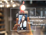 Bluetooth 셔터 iPhone Smartphone를 위한 먼 LED Selfie 전화 빛