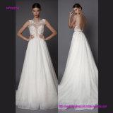 Bling-Bling Spitze-reizvolles geöffnetes zurück Hochzeits-Kleid