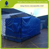 el PVC azul del color 610GSM cubrió el encerado de la tela para las cubiertas del acoplado