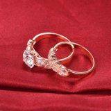 로즈 금박 디자인 신부 반지는 -37를 놓았다